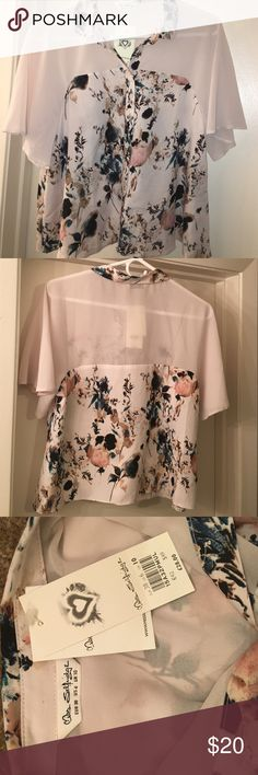 Miss Selfridge Floral Top Floral top. Sheer. Never worn. Miss Selfridge Tops Blouses