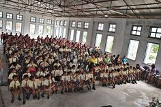 School students of Nuchhungi English Medium School Hnahthial Lunglei Mizoram India