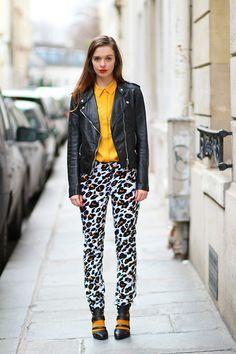 Black & Leopard (by Sab FashionLab) http://lookbook.nu/look/4718663-Black-Leopard