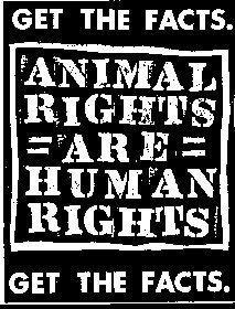 animal liberation = human rights.