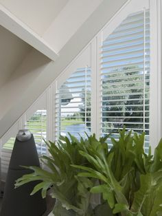 triangle window shutters ... an un-moving solution to the issue