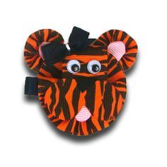tiger hair bow, she could wear it for Uncle Rob