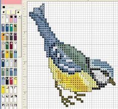 Bird hama beads pattern