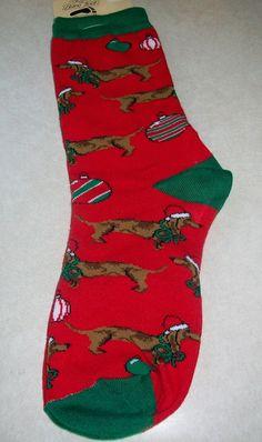 Holiday Dachshund Socks - Dachshund Rescue of North America - Doxie Store