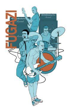 a favorite illustrator, Phil Noto: and a favorite band,  Fugazi