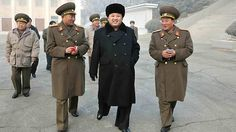 This picture taken by North Korea's official Korean Central News Agency (KCNA) shows North Korean leader Kim Jong-Un (C) inspecting the Command of large combined unit 526 of the Korean People's Army at undisclosed place in North Korea.