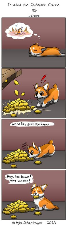 Ichabod the Optimistic Canine Comic. He's so cute omfg Funny Animal Memes, Cute Funny Animals, Cute Baby Animals, Funny Cute, Funny Dogs, Funny Memes, Dog Comics, Cute Comics, Funny Comics