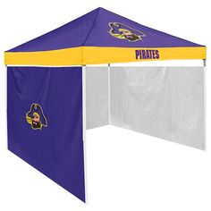 East Carolina Pirates Ncaa 9' X 9' Economy 2 Logo Pop-up Canopy Tailgate Tent With Side Wall