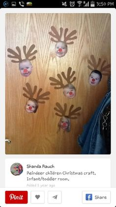 Reindeer students kids arts and crafts for christmas