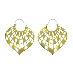 "Karen London Designer ""Morocco"" Brass Earrings"