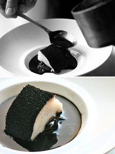 Massimo Bottura Merluzzo tartufo salsa nera seppiata