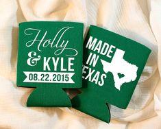 Personalized Koozies Wedding Koozies Made in Texas by SipHipHooray