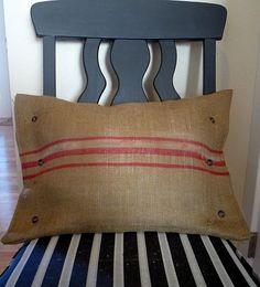 cute burlap-linen pillow