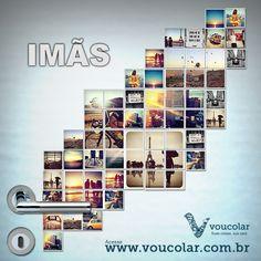 Imãs personalizados com as suas foto favoritas www.voucolar.com.br