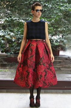 Skirt super chic, gonna a pieghe anni 50, 50s, fifties, broccato