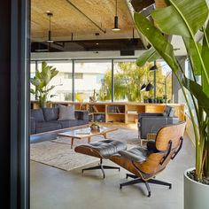 Procore Carpinteria Offices, California. The achieved aesthetic is an interesting balance of new and old, high-tech and raw industrial.