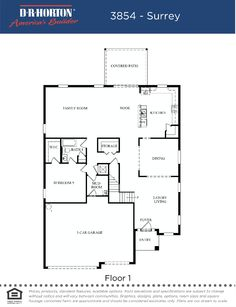 Lake Cove Point Surrey First Floor Plan in Winter Garden FL