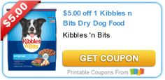 $5.00 off 1 Kibbles n Bits Dry #Dog Food #coupon