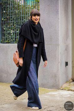 Mica Arganaraz Street Style Street Fashion Streetsnaps by STYLEDUMONDE Street Style Fashion Photography