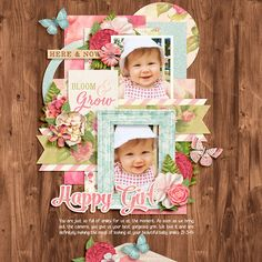 Bloom and Grow by Kristin Cronin-Barrow Template Set 165 by Cindy Schneider Fonts: Georgia Belle and Salamander Script
