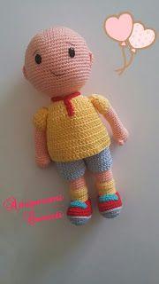 Amigurumi Cenneti: Caillou yapılışı – Free Pattren – My CMS Crochet Dolls Free Patterns, Baby Knitting Patterns, Amigurumi Patterns, Crochet Toys, Crochet Baby, Caillou, Baby Toys, Crochet Disney, Amigurumi Doll