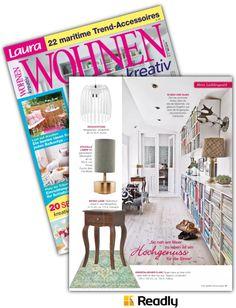 Vorschlag zu Laura WOHNEN Kreativ NR.05 2016 Seite 57 Magazine Rack, Storage, Home Decor, Magazines, Creative, Homes, Purse Storage, Decoration Home, Room Decor