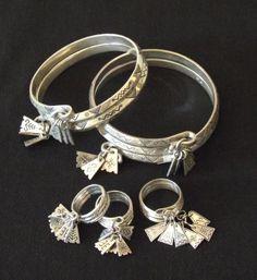 Traditional Latvian   Latgallian Jewelry  7 day ring & bracelets