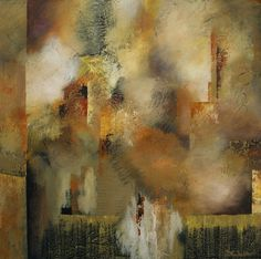 Foggy Town by California artist Nancy Eckels - abstract, contemporary, modern art, painting -- Nancy Eckels