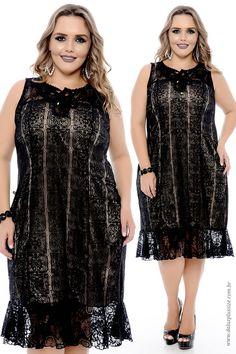 Vestido Preto Plus Size Dorothy  - Coleção Vestidos de Festa Plus Size - @daluzplussize