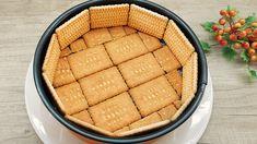 Vynikajúci nepečený dezert podľa youtube, ktorého základom sú maslové sušienky a jednoduchý krém.Potrebujeme:150 g sušienok2 vajcia10 g vanilkového cukru50 gramov kr. cukru500 ml mlieka45 g kukuričného škrobuUvaríme smotanu Odstavíme z ohňa a pridáme1 pohár jogurtuNa … My Recipes, Sweet Recipes, Cake Recipes, Dessert Recipes, Desserts With Biscuits, Cookies Et Biscuits, New Dessert Recipe, Good Food, Yummy Food