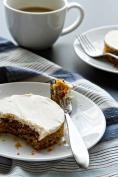 Pumpkin Bars with Cream Cheese Frosting from @bakingaddiction