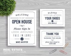 """Real Estate """"Welcome to Our Open House"""" Printables 