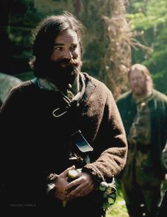 Murtagh when he sees Claire at the wedding. Papa bear is proud.