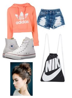 """Untitled #69"" by irishdancer4ever3 on Polyvore featuring adidas, Converse and NIKE"