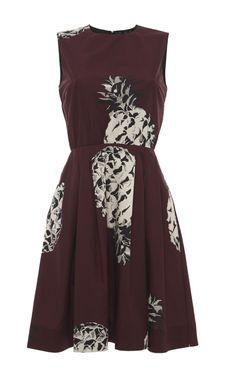 Pineapple Print Sleeveless Dress by MSGM - Moda Operandi