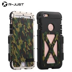 NEWEST R-just Armor King Iron Man Shockproof Flip phone cases For iphone 6 6s / 6s plus protection shell Steel Metal back cover -- AliExpress Affiliate's buyable pin. Details on product can be viewed on www.aliexpress.com by clicking the image