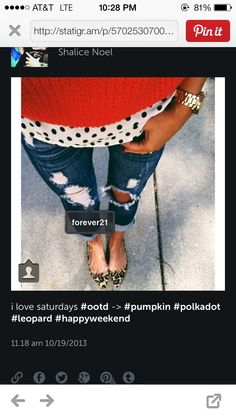 Polka dots and leopard.