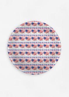 View Round Glass Tray - United States of America Vida Design, Glass Tray, Round Glass, Original Art, United States, America, Usa