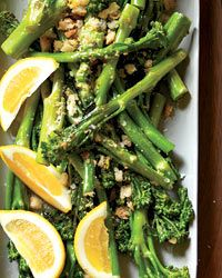 Broccolini with Crispy Lemon Crumbs - Quick Side Dishes on Food & Wine Side Dish Recipes, Vegetable Recipes, Vegetarian Recipes, Cooking Recipes, Healthy Recipes, Crumb Recipe, Great Recipes, Favorite Recipes, Quick Side Dishes
