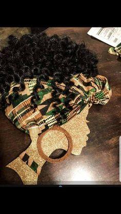 Black Woman Silhouette, Silhouette Art, Black Girl Art, Black Women Art, Diy Arts And Crafts, Creative Crafts, African Christmas, Black Art Painting, Natural Hair Art