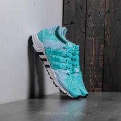 adidas EQT Support RF Primeknit W Energy Aqua/ Energy Aqua/ Core Black Cleats, Core, Aqua, Adidas, Shoes, Black, Fashion, Football Boots, Moda