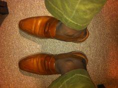 No sock gang!!!!! Allen Edmonds and Ralph Lauren to church...