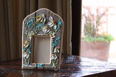 """Barbara Scharpf Originals"" Picture frame: Such a wonderful piece of art/design made it on barn wood, just perfect to make a lovely custom gift. #art #design #wood #woodcraft #picture #photo #frame #furniture #colorful #love #passion #flowers #style #beautiful #elegant"