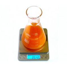 Balanza de laboratorio económica. Capacidad 2000 g, precisión 0,1 g. Plataforma de acero inoxidable. Con función tara y función cuentapiezas.