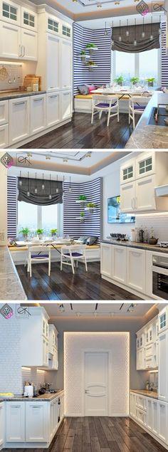 Beyaz mutfak vintage