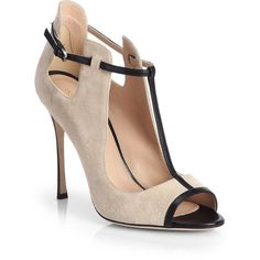 Sergio Rossi Suede & Leather T-Strap Pumps and other apparel, accessories and trends. Browse and shop 21 related looks.