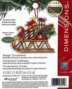 Dimensions  Sleigh Ornament 7008914 Christmas by DebiCreations, $6.99