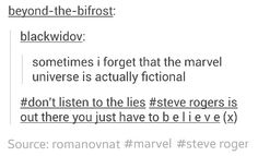 Captain America, Steve Rogers: You just have to believe. *bald eagle screeches* *ringing sound of freedom is heard*
