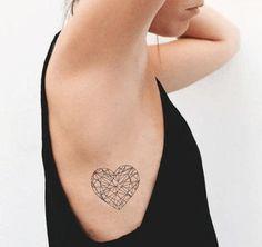 Simple Body Heart-Tattoo Designs