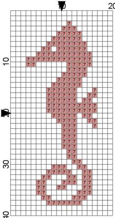 Motif To use for a giant cross stitch guide. I made a bookmark with this pattern, was so quick and easy :)To use for a giant cross stitch guide. I made a bookmark with this pattern, was so quick and easy :) Cross Stitch Bookmarks, Mini Cross Stitch, Simple Cross Stitch, Cross Stitch Animals, Cross Stitch Charts, Cross Stitch Designs, Easy Cross Stitch Patterns, Cross Stitch Freebies, Pixel Kawaii